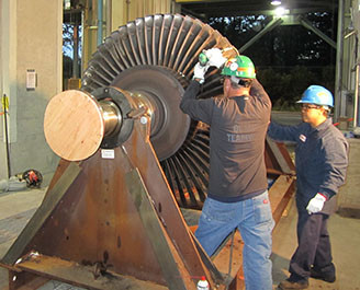 EMERGENCY TURBINE ROTOR REPAIR