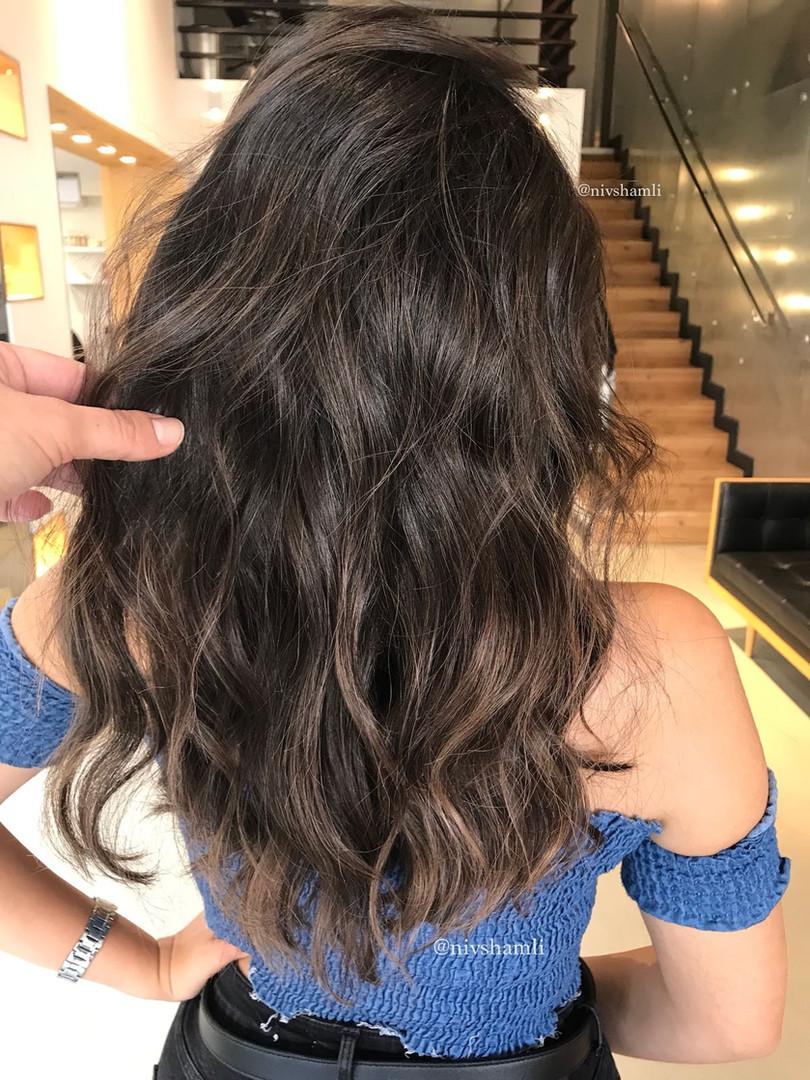 שיער צבוע טבעי