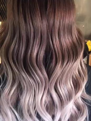 gold rose hair