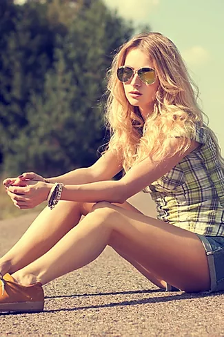 Girl Sitting on the Path.webp