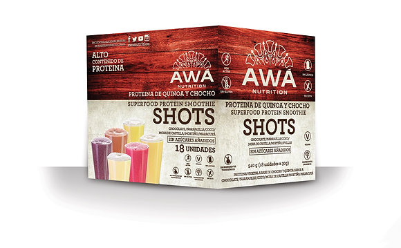 Shots Surtidos Lifestyle Activo Caja Awa Nutrition