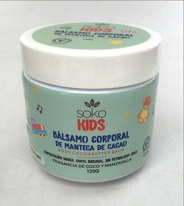 Balsamo Corporal Kids Coco Manzanilla 120gr Soko