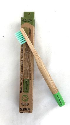 Cepillo Niños Verde Bamboosmile unidad