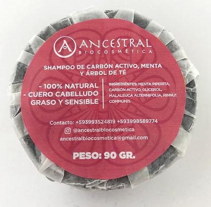 Shampoo de Carbón Activado Barra Ancestral Biocosmética