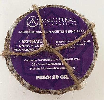 Jabon de Chia con AE Barra Ancestral Biocosmética