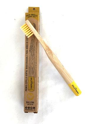 Cepillo Niños Amarillo Bamboosmile unidad