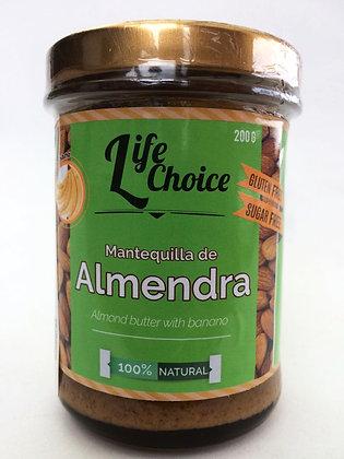 Mantequilla de Almendras con Banano 200gr. Life Choice