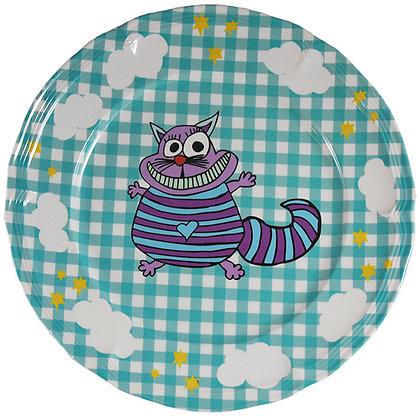 Round Plate • Crazy Cat