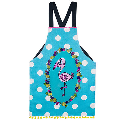 Kids Apron • Pink Flamingo