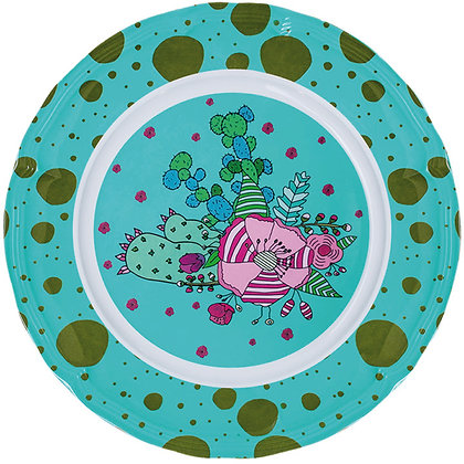 Round Plate • Cactus