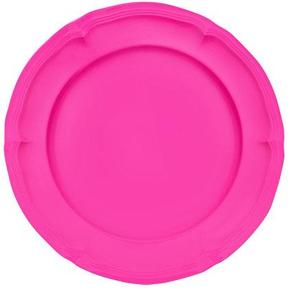 Round Plate • Neon Pink