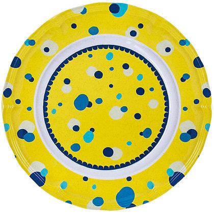 Round Plate • Bubbles