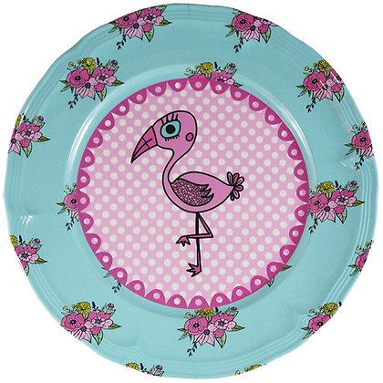 Round Plate • Pink Flamingo