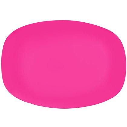 Ovalen bordje • Neon Pink