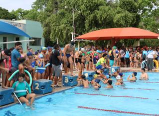 Festival de Fim de Ano de Natação lotou o parque aquático da AABB