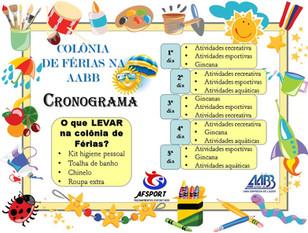 Colônia de Férias é na AABB Cuiabá