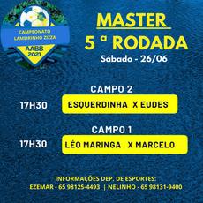 Campeonato Lameirinho Zizza 2021 - Tabela de Jogos Sábado 26/06