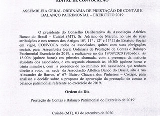 EDITAL DE CONVOCAÇÃO AABB CBÁ