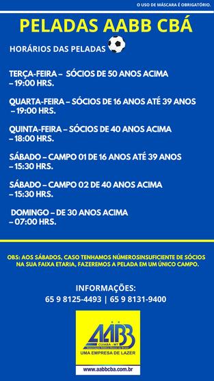 Retorno das peladas na AABB Cuiabá
