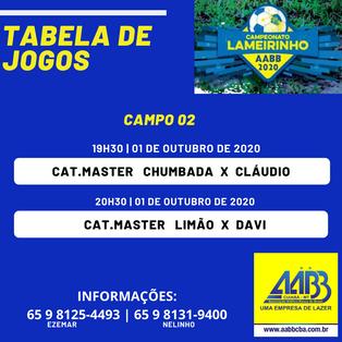 Campeonato Lameirinho 2020 ''José Ziza Estevam''- 'ZIZA - A bola volta a rolar nos campos da AABB