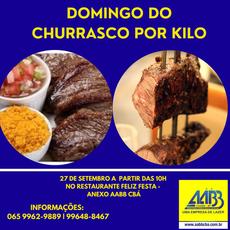 27 DE SETEMBRO - DOMINGO DO CHURRASCO POR KILO