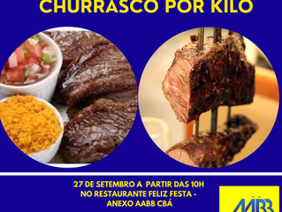 27 DE SETEMBRO - DOMINGO DO CHURRASCO POR KILO