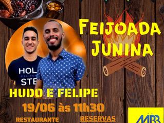 Feijoada Junina dia 19 de Junho de 2021 no Restaurante Feliz Festa AABB Cuiabá