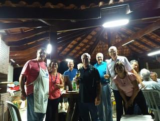 CHURRASCO, MÚSICA AO VIVO E MAIS DE 50 PESSOAS NA INAUGURAÇÃO DA NOVA CHURRASQUEIRA DA AABB