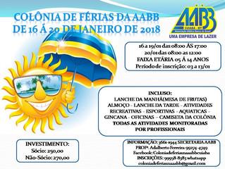 Vem aí mais uma Colônia de Férias na AABB Cuiabá ... Garanta já a vaga dos seus filhos!
