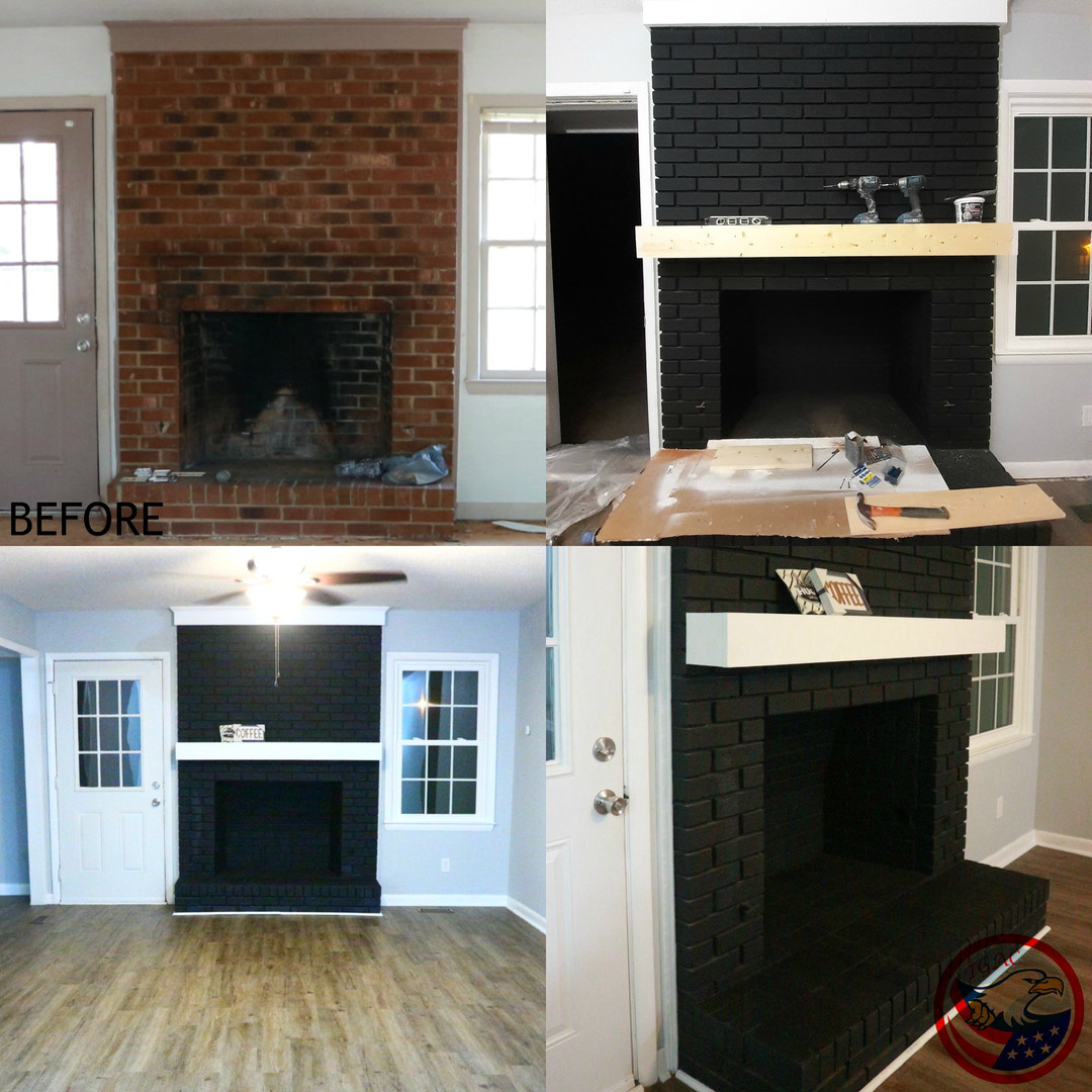 Mantel Install and Painting
