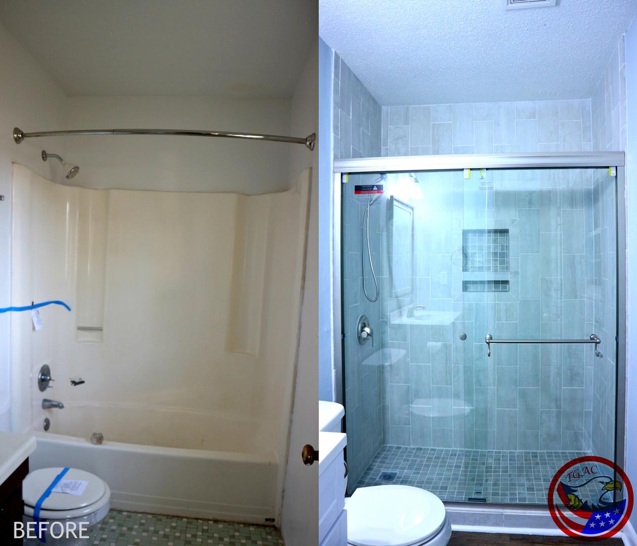 Tile and Shower Door Install