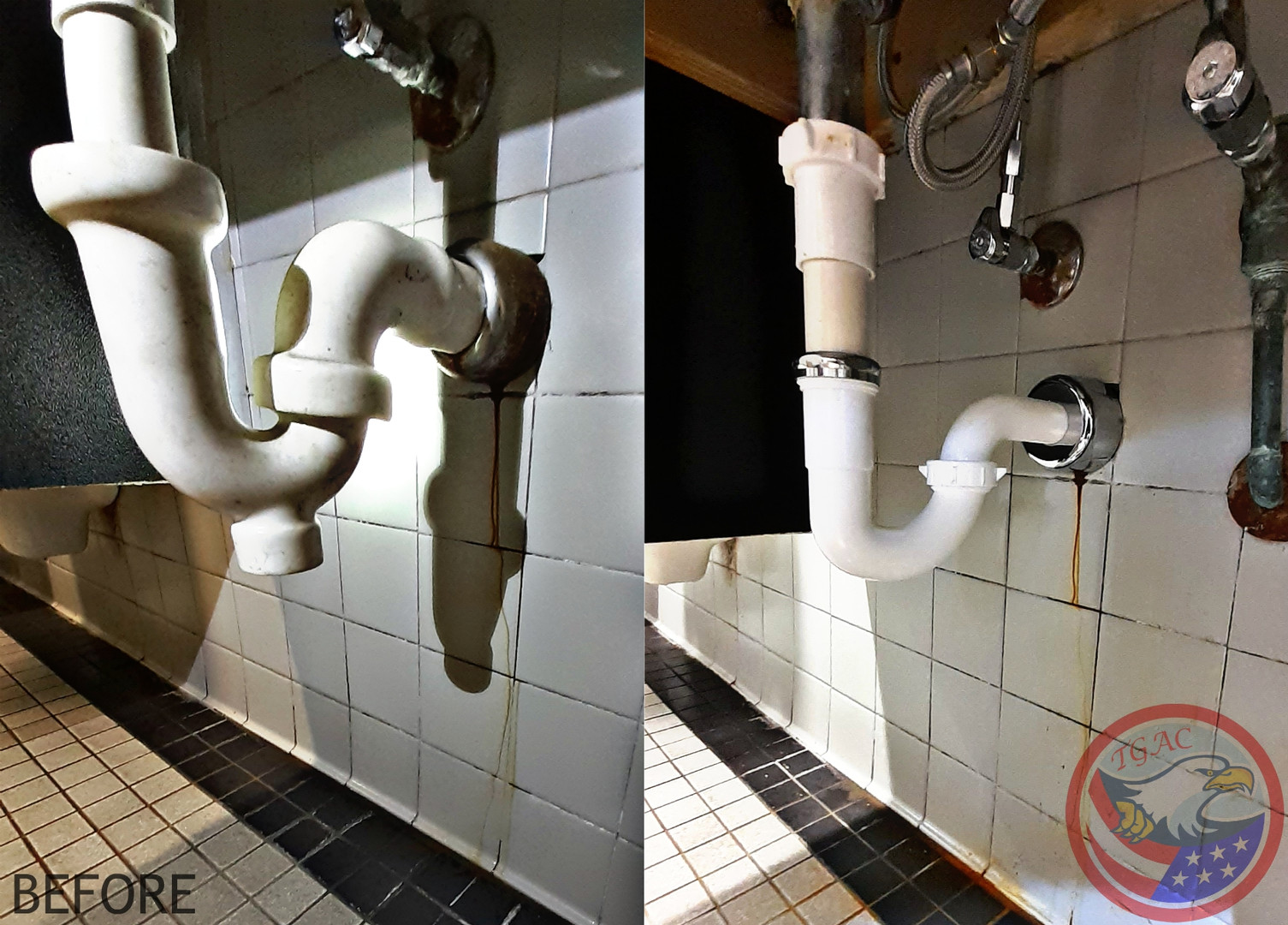 Commercial Sink Pipe Replacement