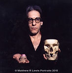 David Cronenberg with skull and penis
