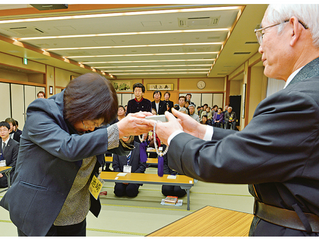 The F-Building was Filled to Overflowing for the Myogo Granting Ceremony