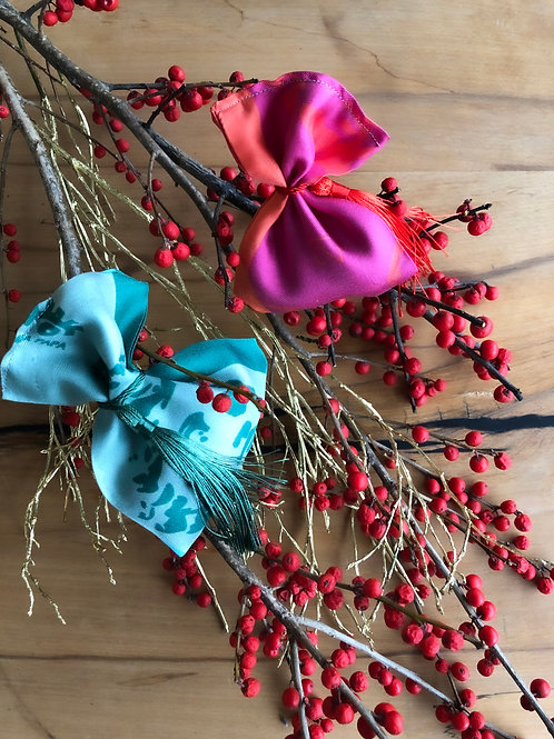 Lucky Charm Scented Silk Ornaments