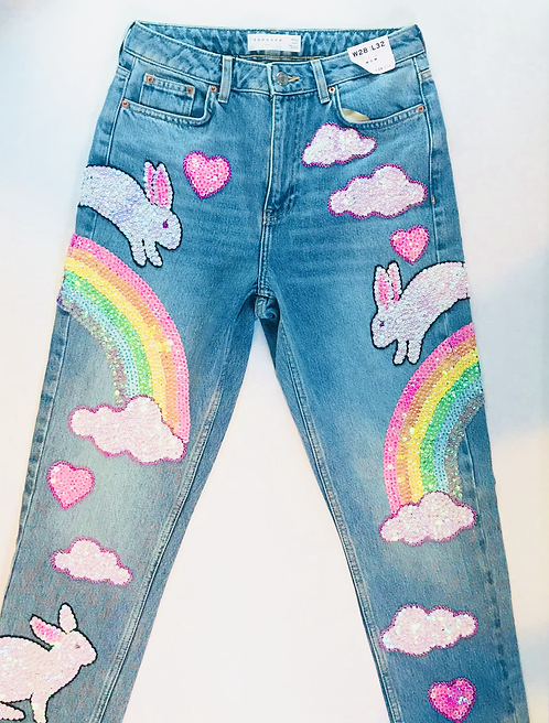 SIZE 8 BUNNY JEANS