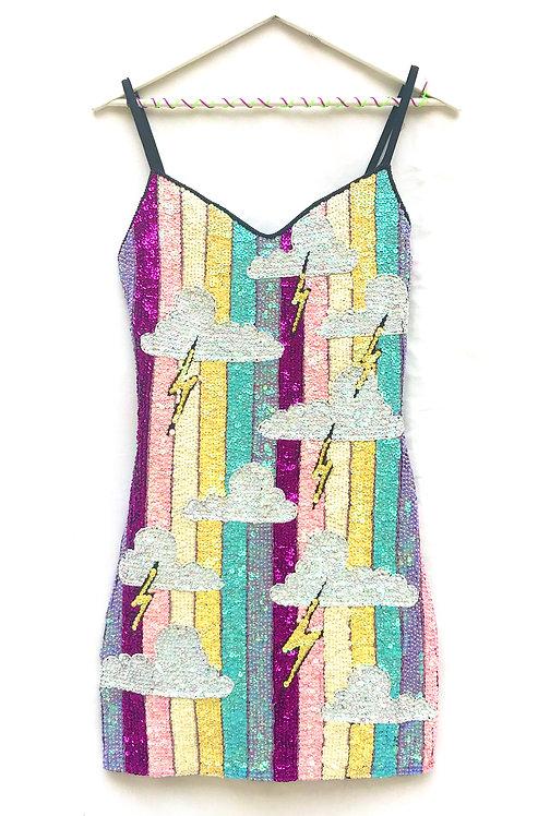 UK SIZE 10-12 SEQUIN DRESS