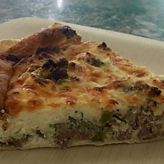 Assorted quiche by the slice
