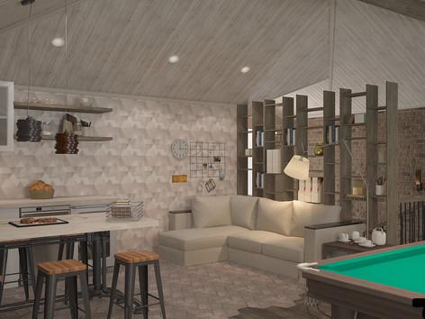 бильярдная комната, вид на бар