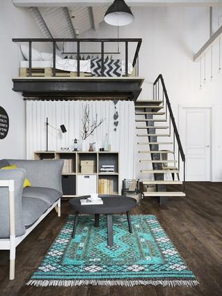 Какого размера должен быть ковер: правила для больших и маленьких комнат
