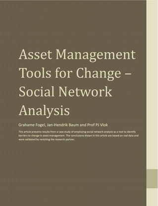 Asset Management Tools for Change – Social Network Analysis