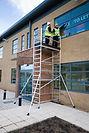 byggställningar, byggnadsställningar, ramställning, fasadställning, aluminiumställning, rullställning, hantverkarställning