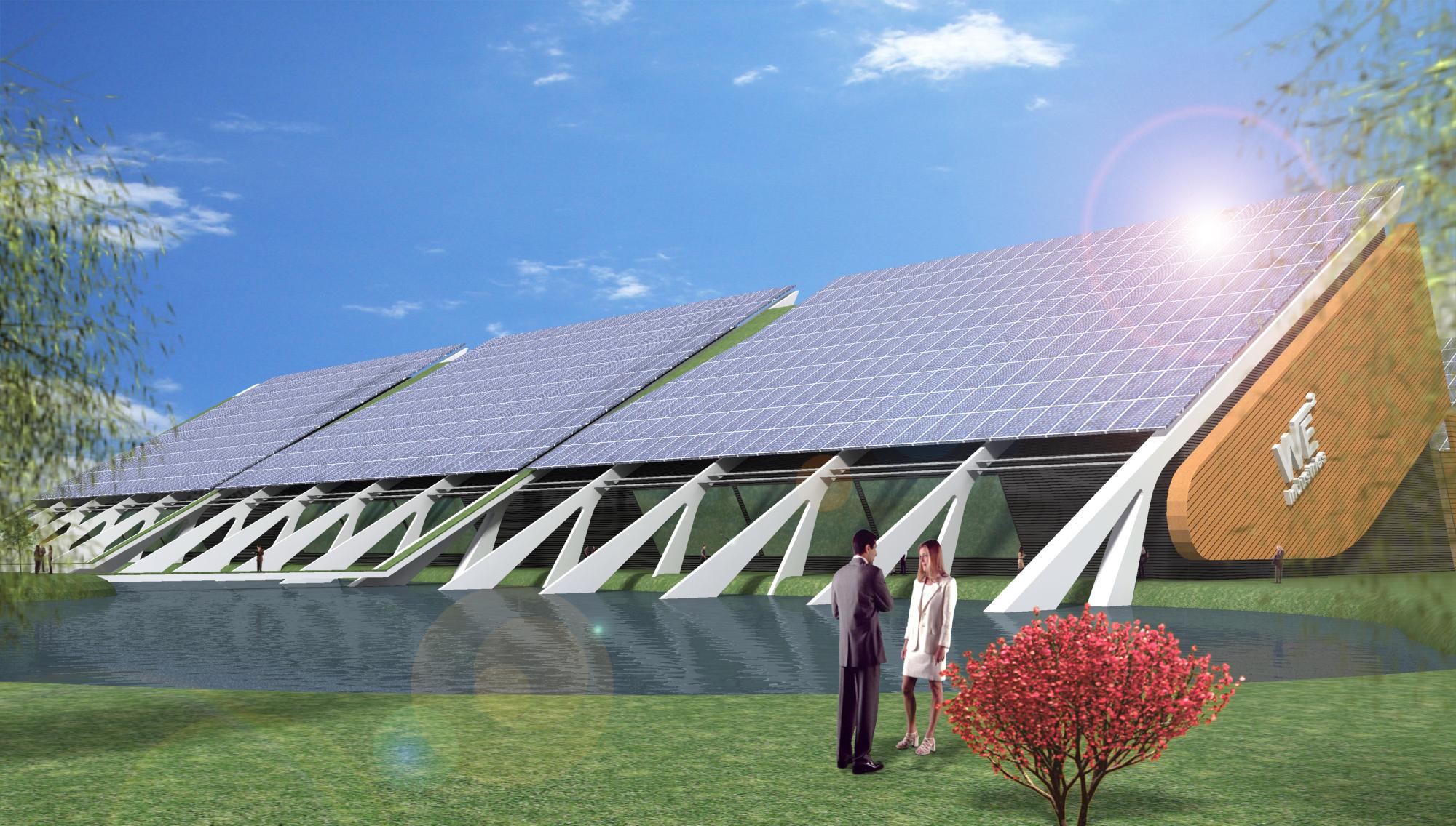 usine w2e panneaux photovoltaiques