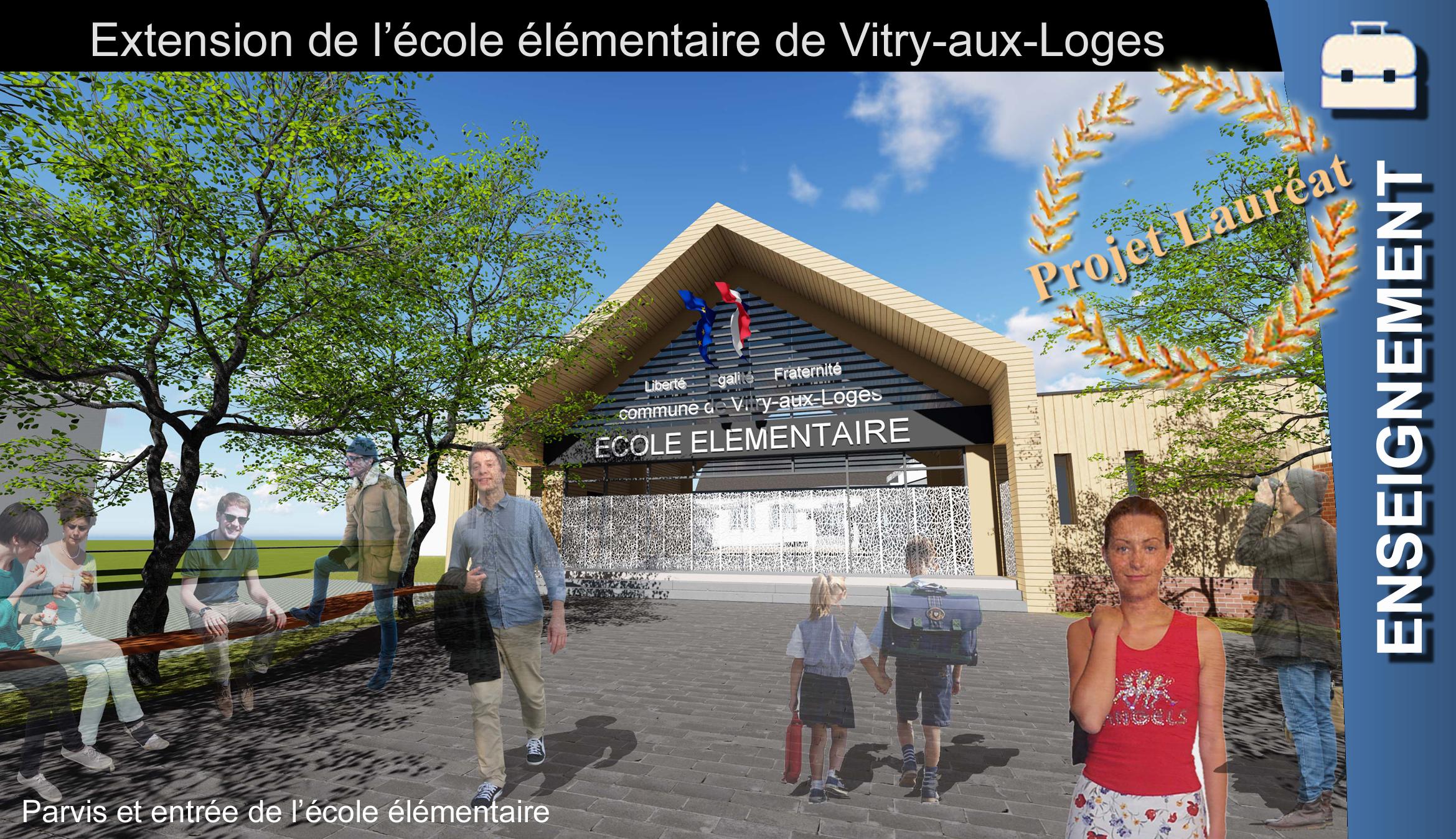 Vitry aux loges Ecole ElemenTaire VIGNETTE