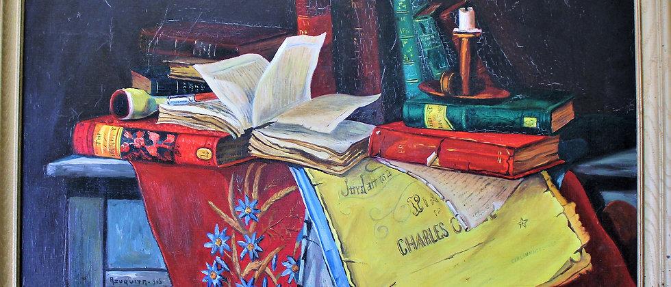 Original Oil Painting on canvas  Signed Azuquita