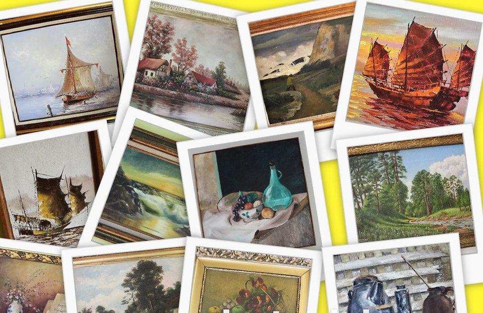 Buy antique vintage painting on Maksartgallery