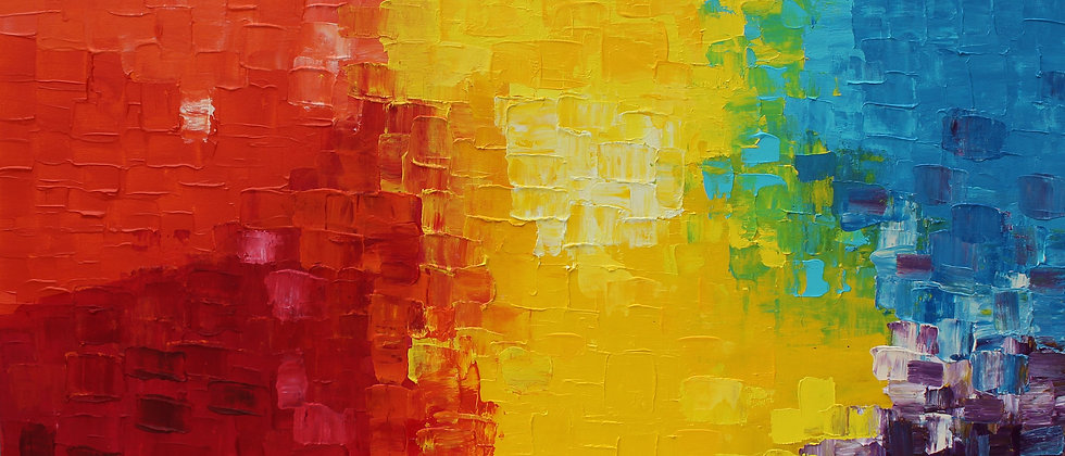 Large Original Abstract Oil Painting on Canvas , Signed Serg Graff, COA