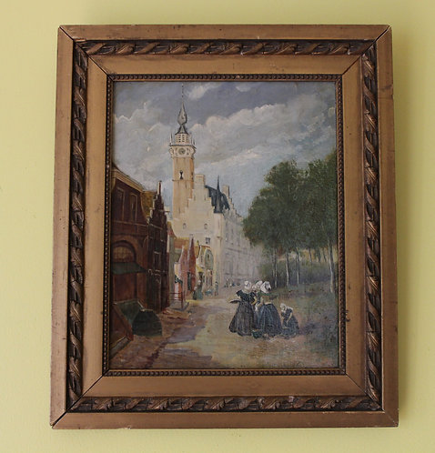 LISTED ARTIST CHARLES DUMONT (1880-1952)ANTIQUE ORIGINAL OIL PAINTING ON BOARD