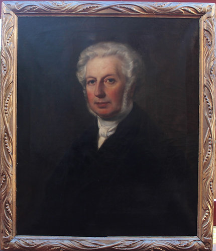 Listed Artist Samuel West (1810-1867) Antique oil on canvas, Dated 1860,Portrait