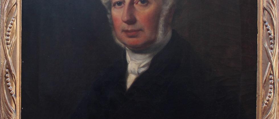 Listed Artist Samuel West (1810-1867) Antique oil on canvas, Dated 1860,Portrait
